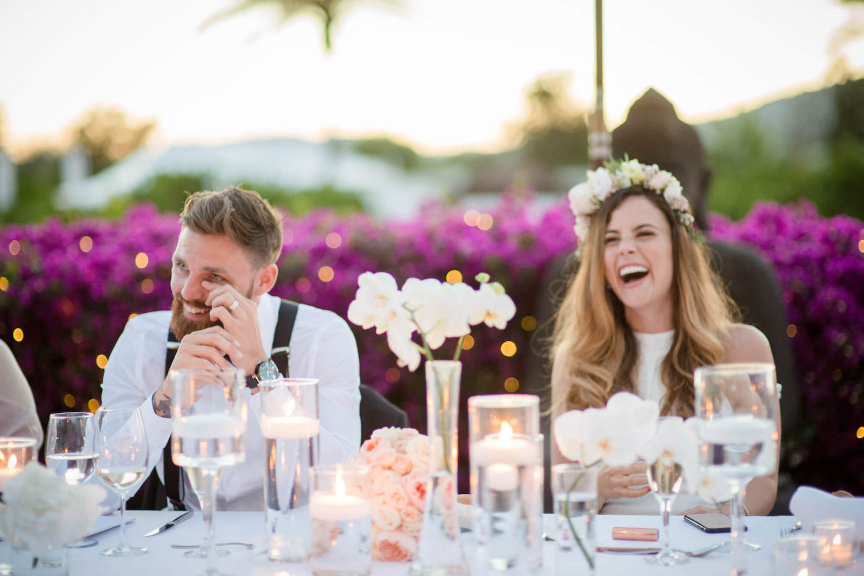 wedding speeches bride groom laughter