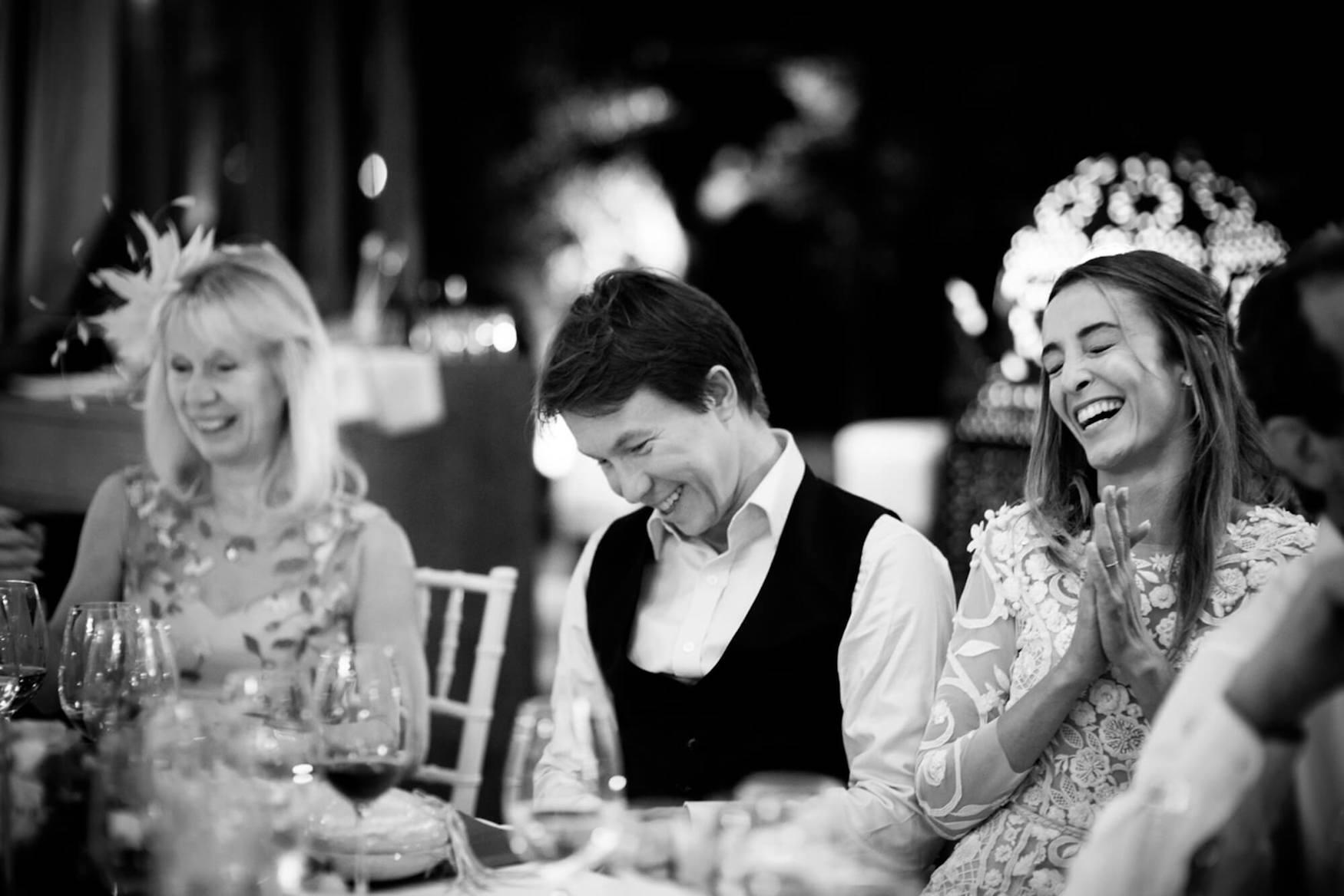 bride groom best man speech wedding breakfast laughter