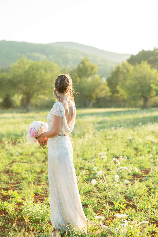 bride wedding dress eliza jane howell country campo hills sunset light