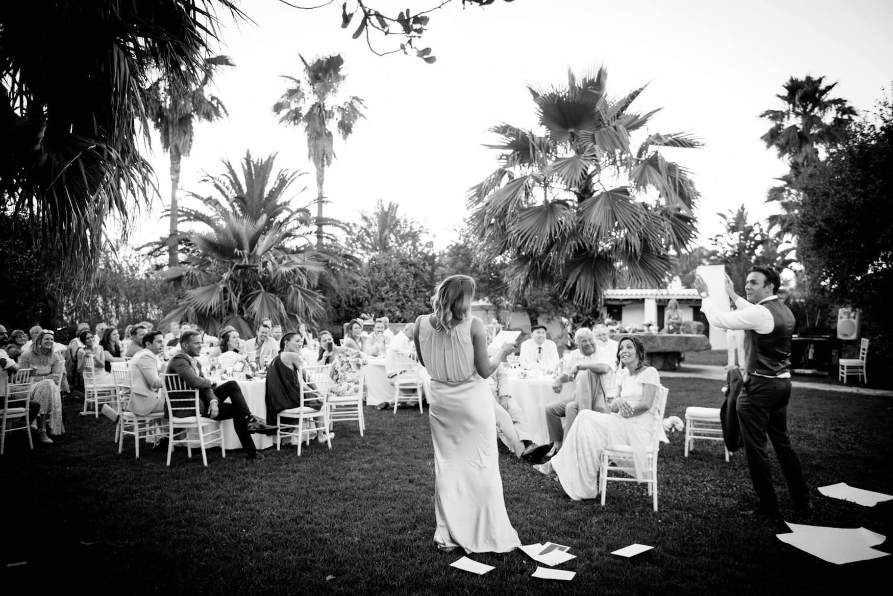 maid of honour speech groom bride wedding speeches outdoor dinner