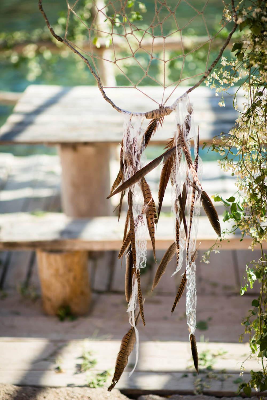 dream catcher feathers benirras beach shack ceremony