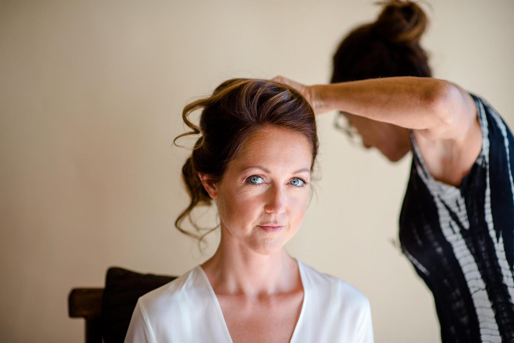 bride hair make up getting ready louise maxwell