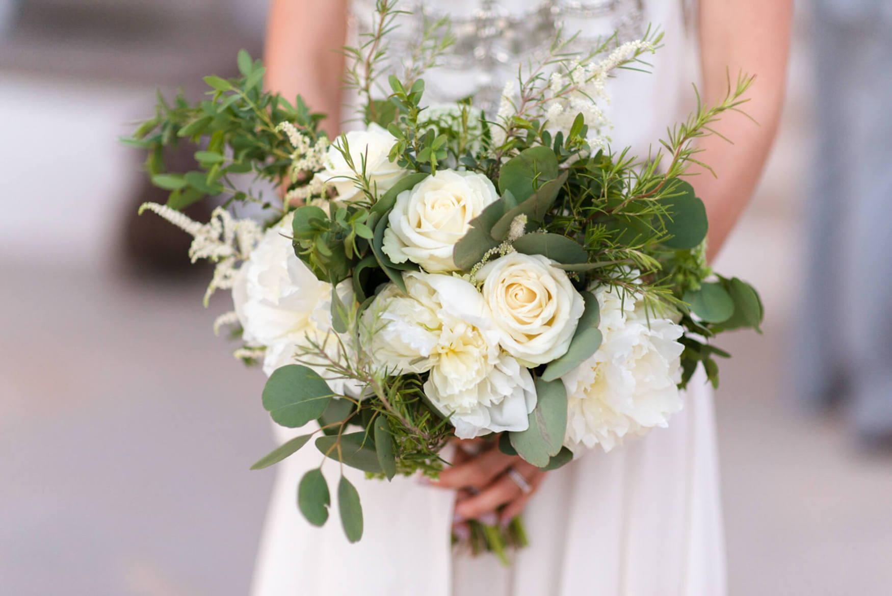 wedding flowers bouquet white roses