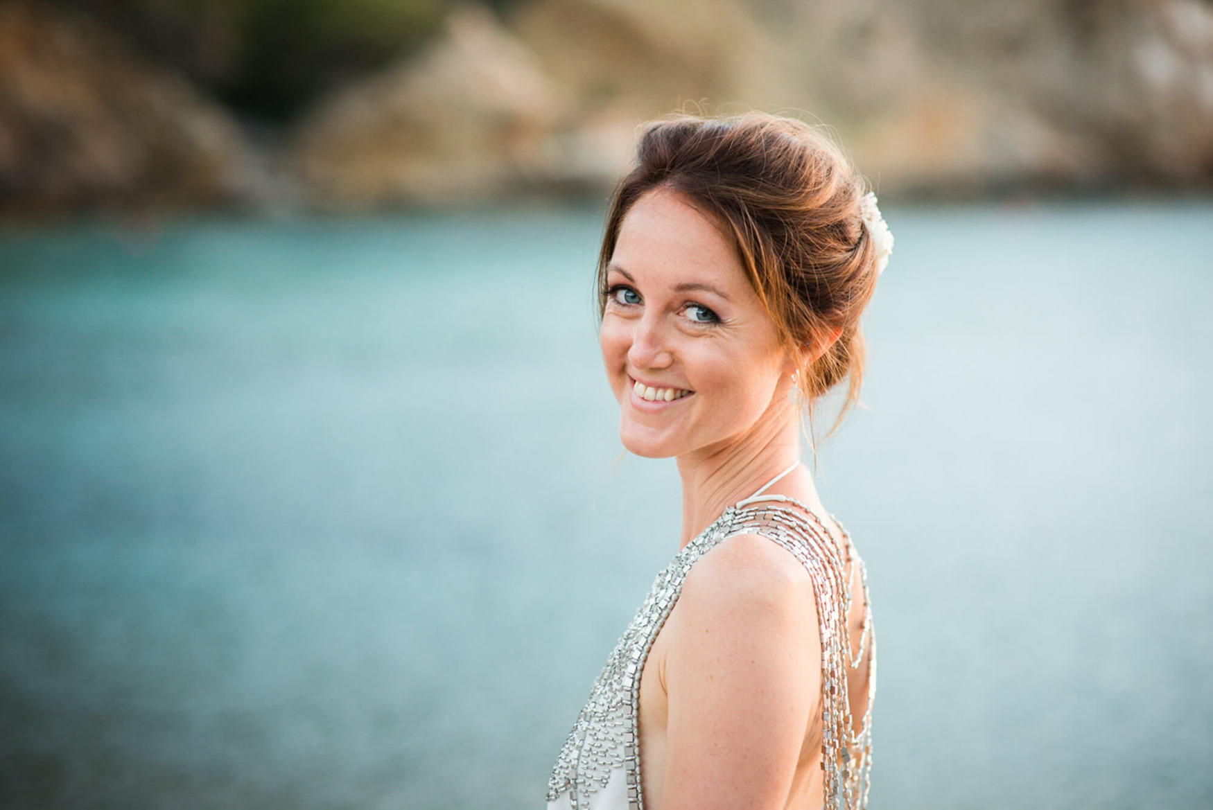 bride benirras sunset kings rock beach blue sea amanda wakeley
