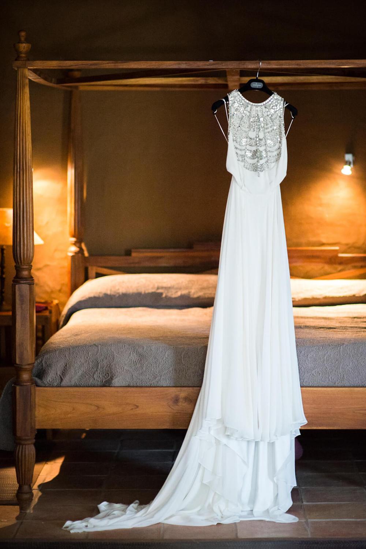 bride wedding dress silk amanda wakeley getting ready mother of bride