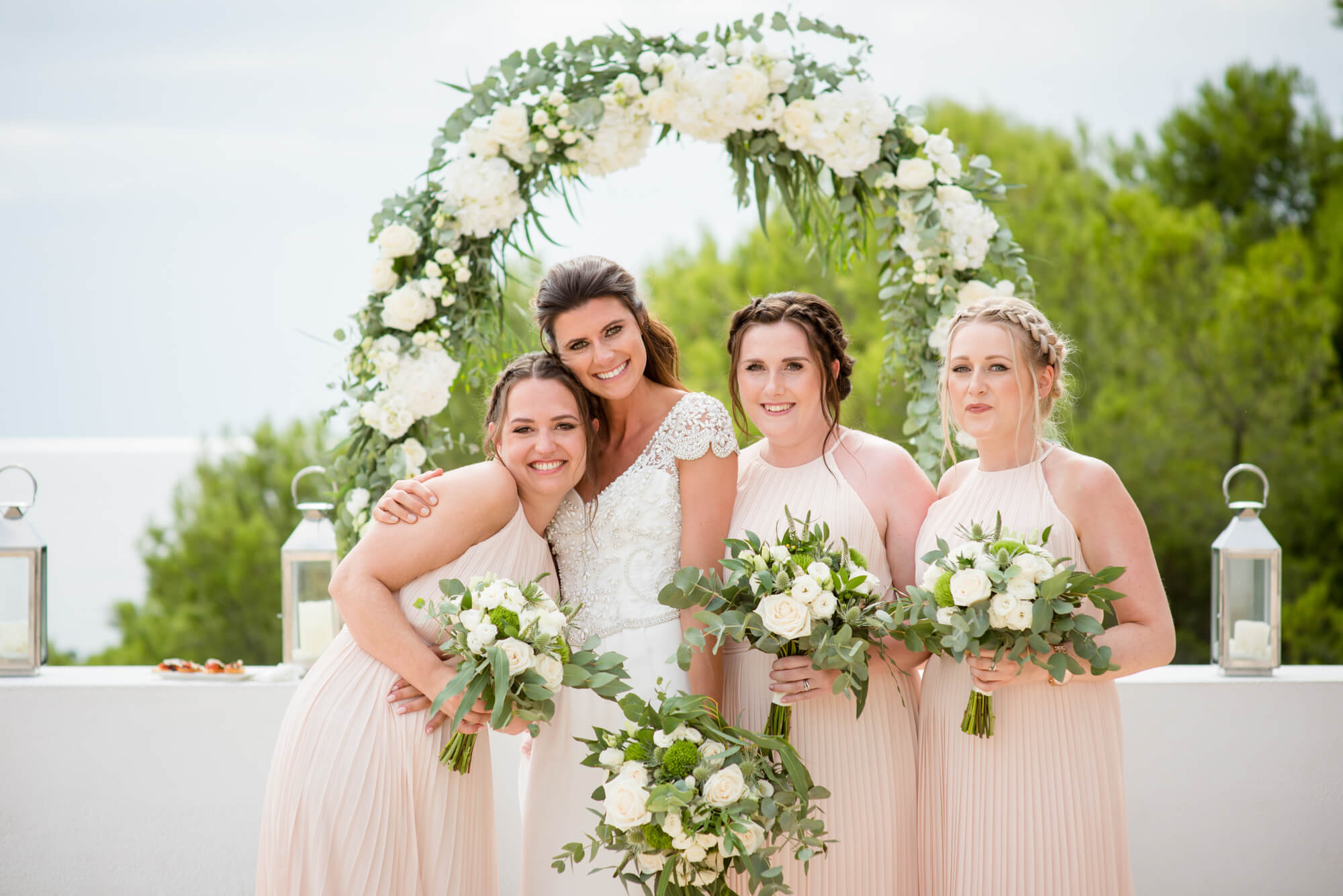 bridesmaids bride formal photos seaside venue es vedra view