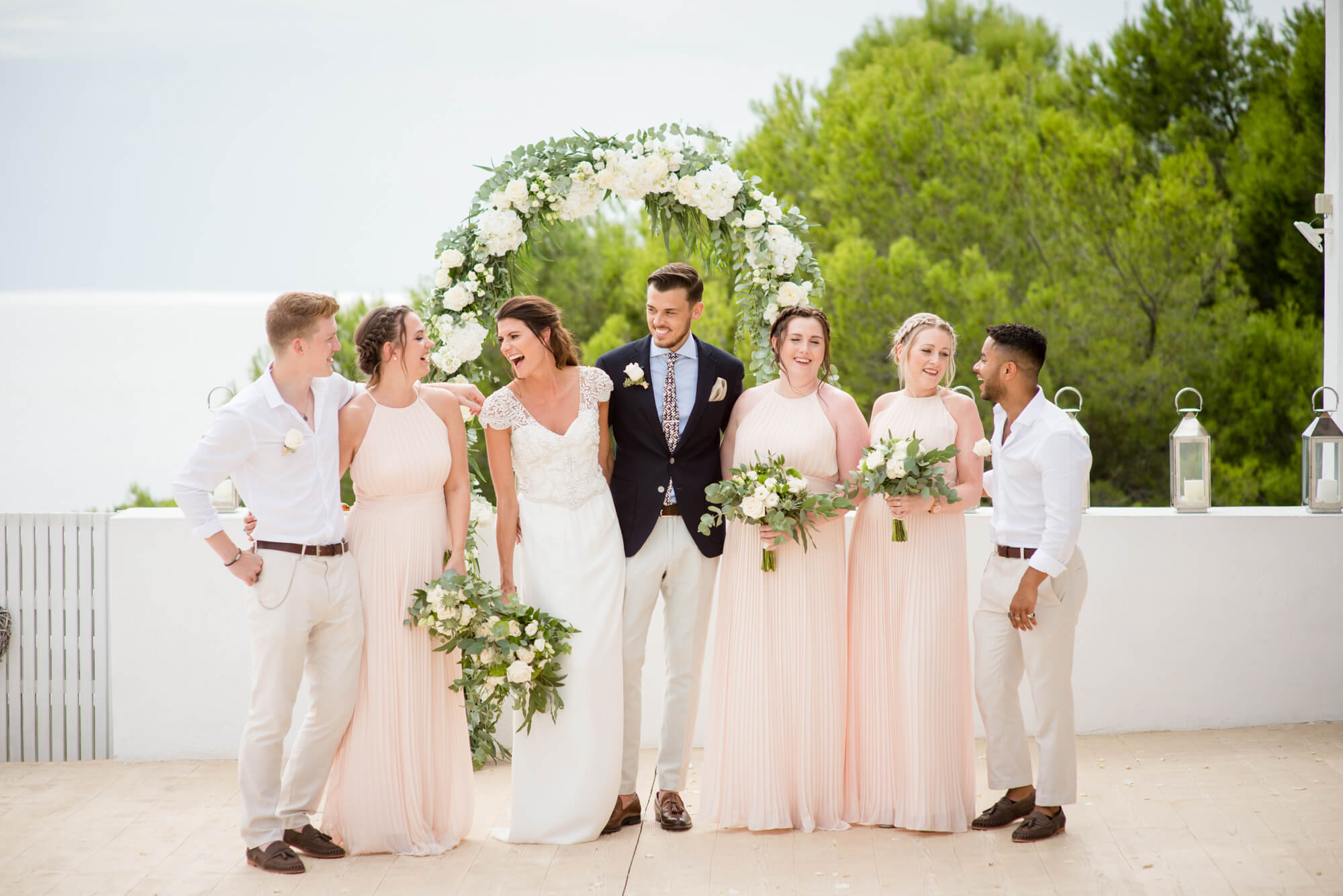 bridal party formal photos bridesmaids best men