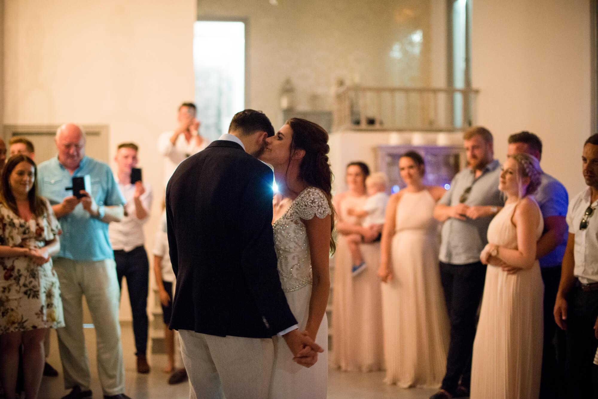 first dance bride groom kiss
