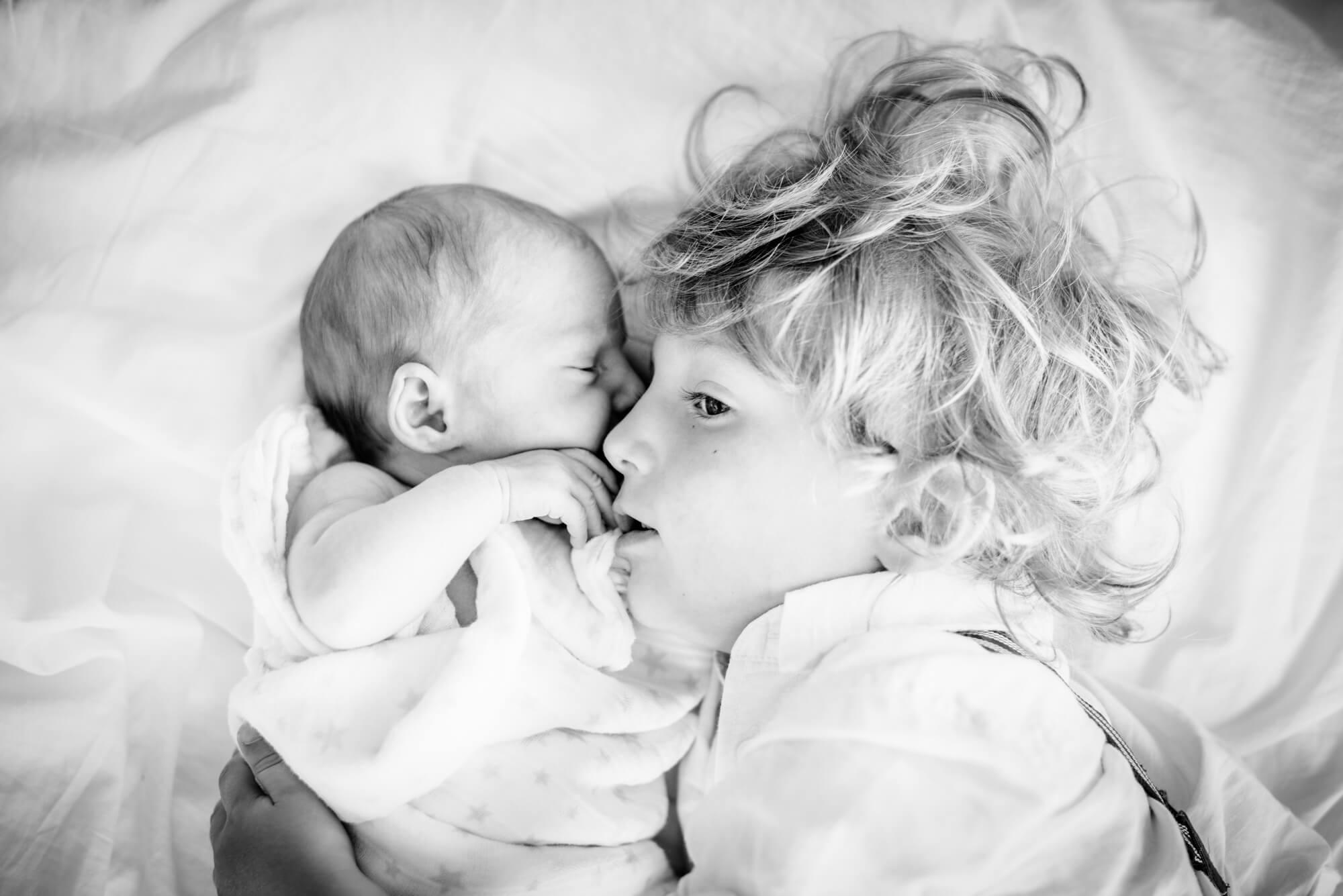 brither sister newborn portrait
