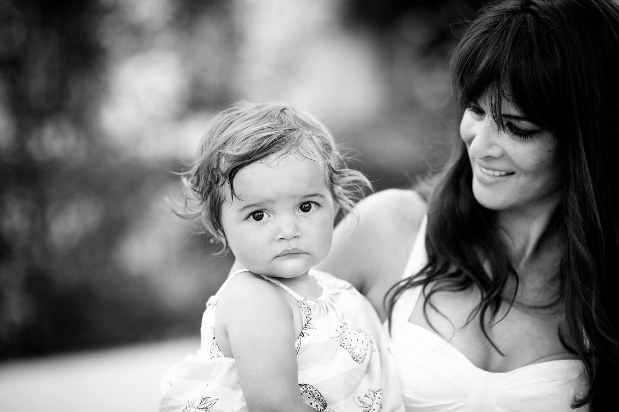 mother daughter portrait beach session
