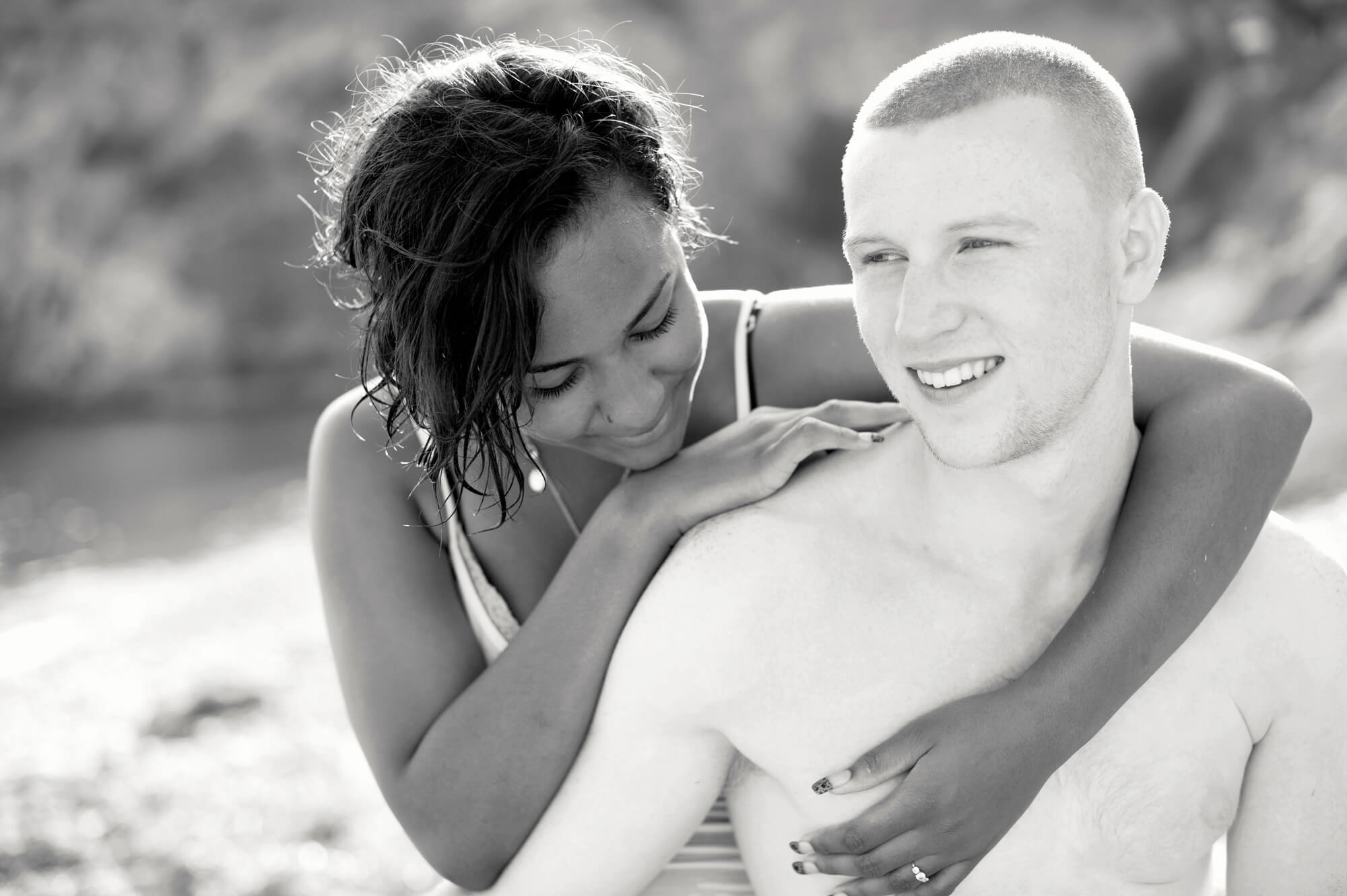 couple portrait ibiza beach engaged