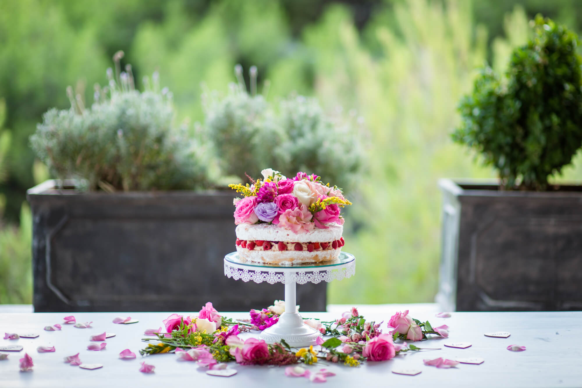 wedding cake victoria spong rasberry cake colourful flowers
