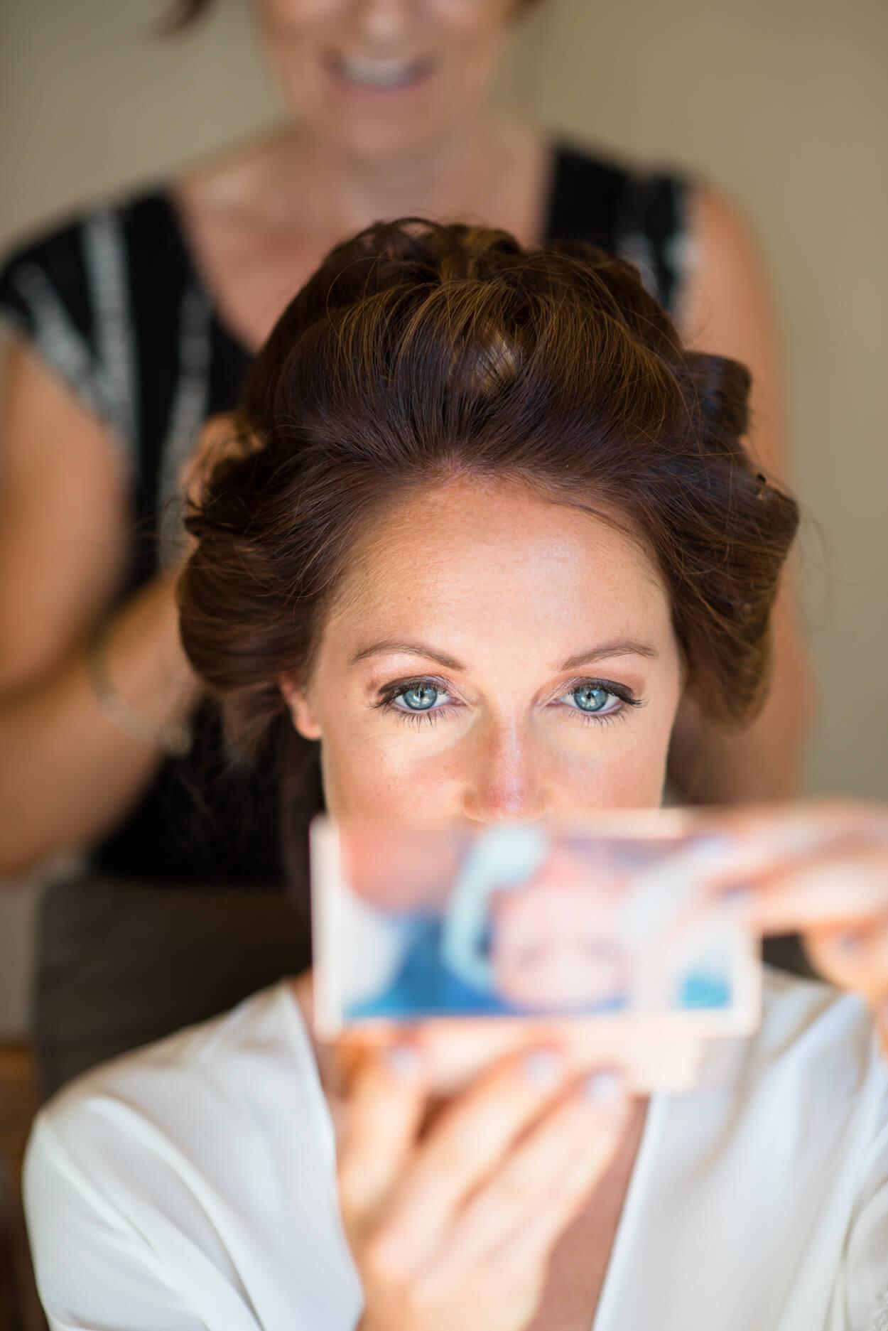 bride getting ready make up hair lousie maxwell