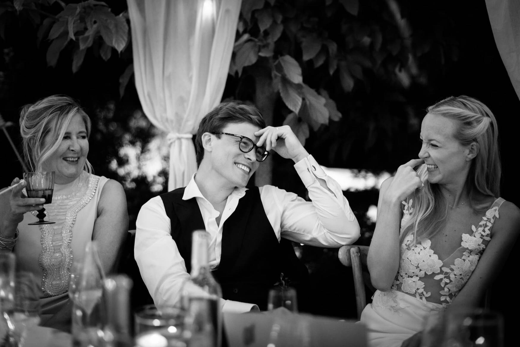 groom bride best men speeches dinner laughter