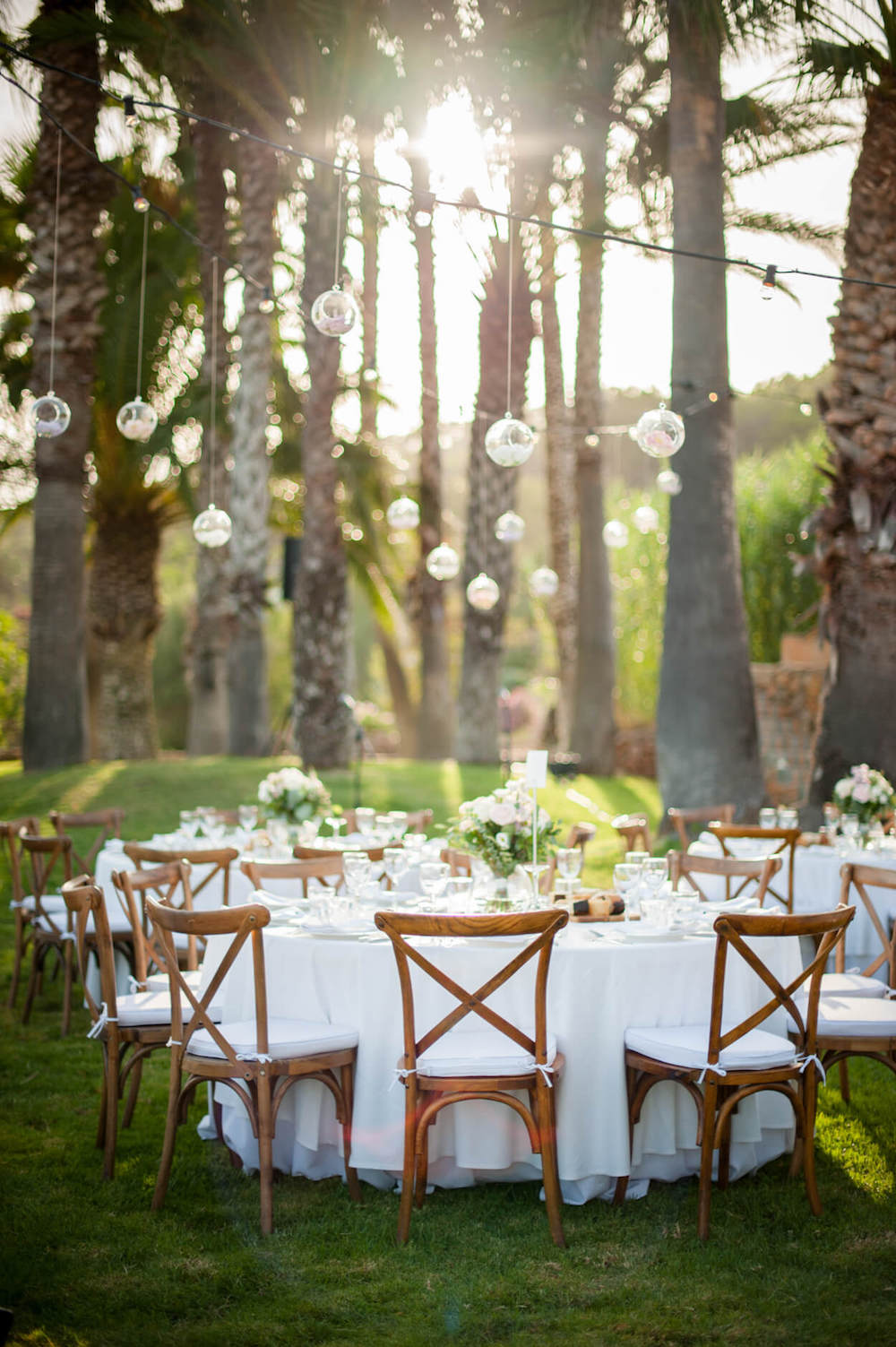 poolside wedding breakfast festoon lighting countryview hills sunset palm trees