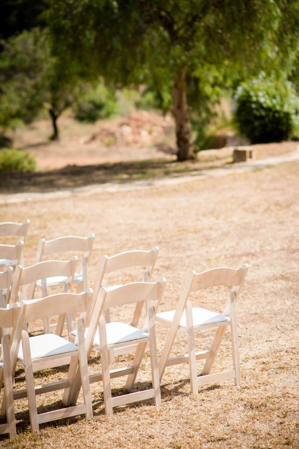 ceremony chairs country view pronovia garden wedding zoe hardman hello magazine