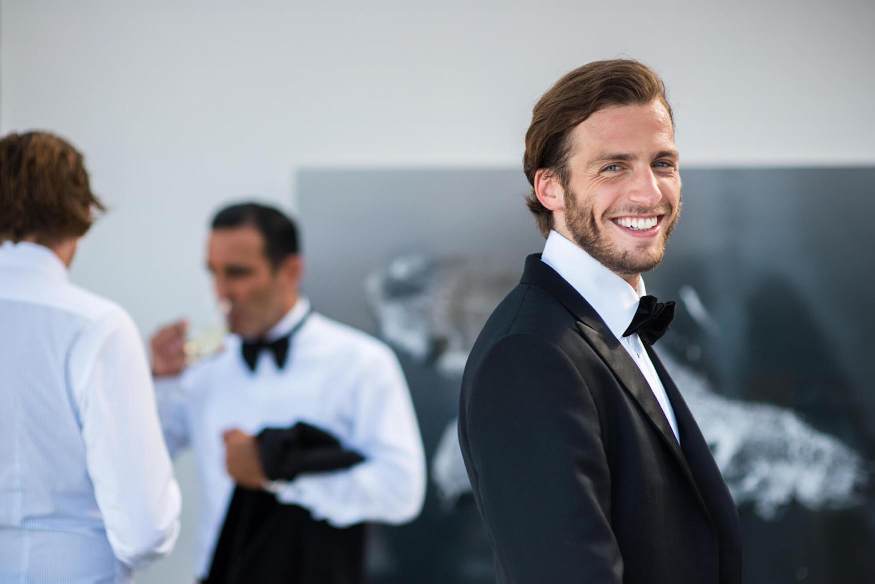 wedding guest black tie